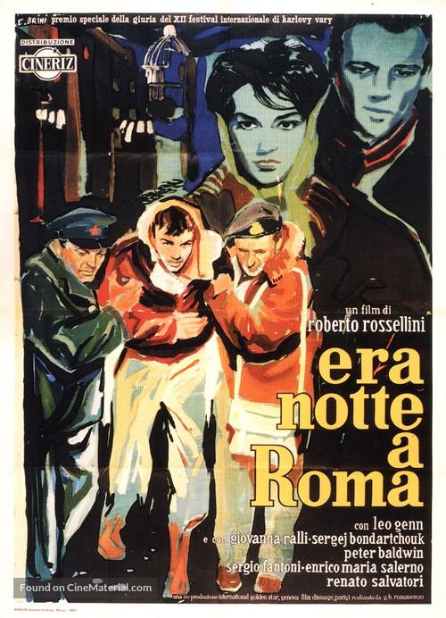 Era notte a Roma - Italian Movie Poster
