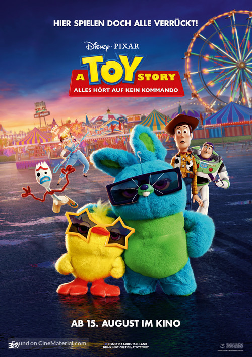 Toy Story 4 - German Movie Poster