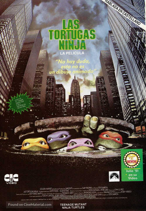 Teenage Mutant Ninja Turtles - Argentinian VHS cover