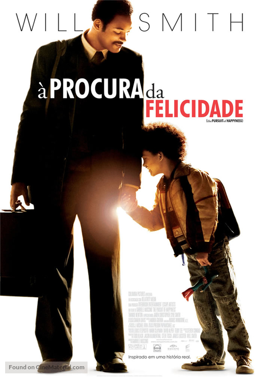 The Pursuit of Happyness - Brazilian Movie Poster