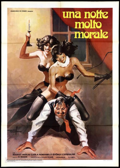 Egy erkölcsös éjszaka - Italian Movie Poster