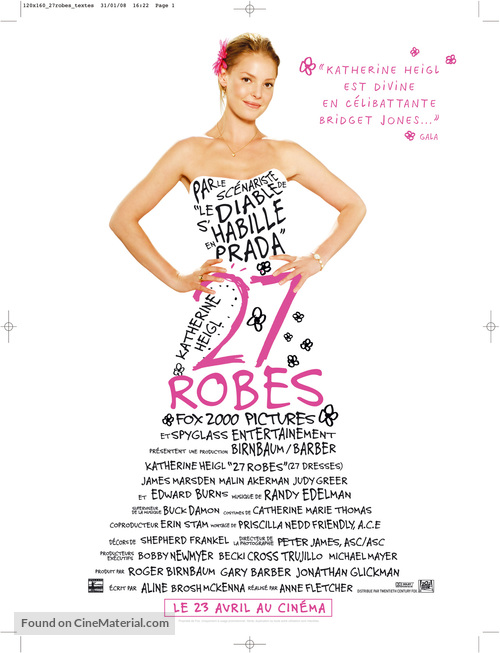 27 Dresses - French Movie Poster