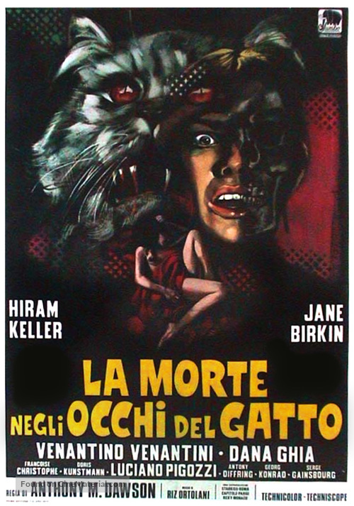 La morte negli occhi del gatto - Italian Movie Poster