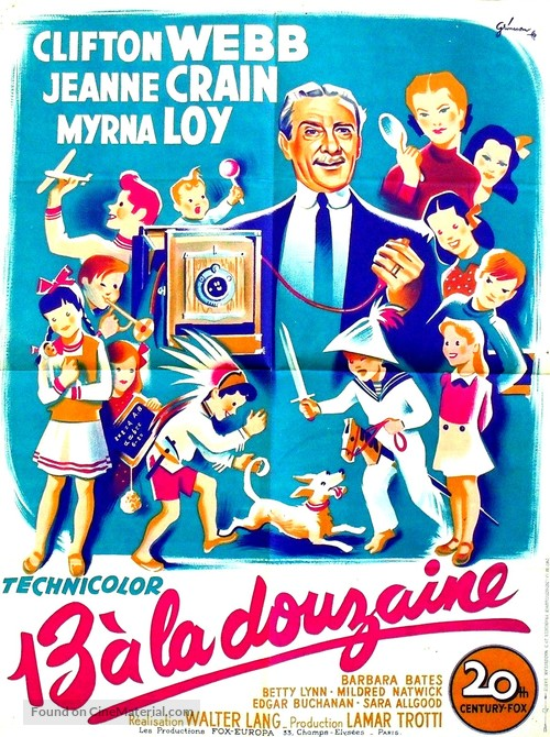 Cheaper by the Dozen - French Movie Poster