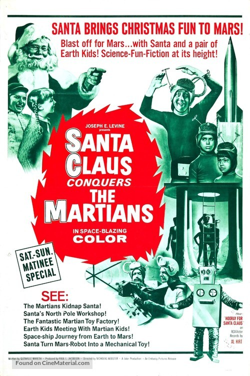 Santa Claus Conquers the Martians - Movie Poster