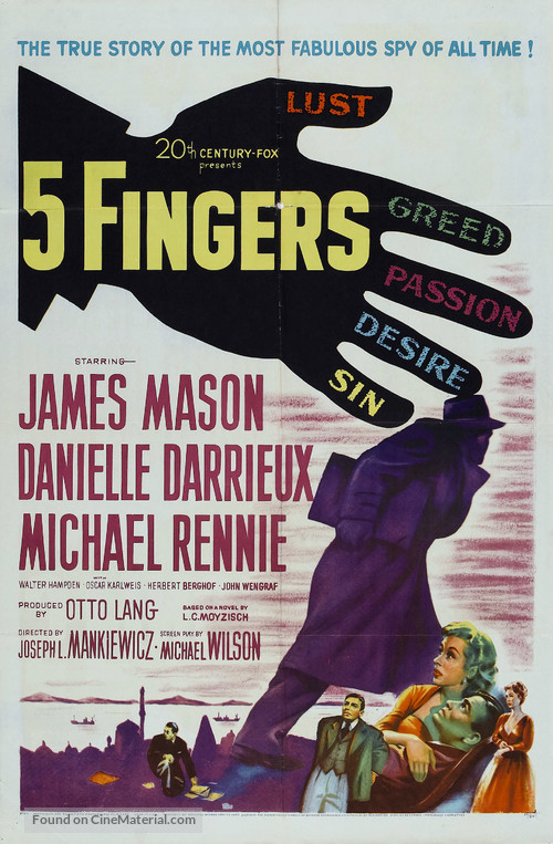 5 Fingers - Movie Poster