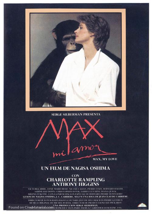 Max mon amour - Spanish Movie Poster