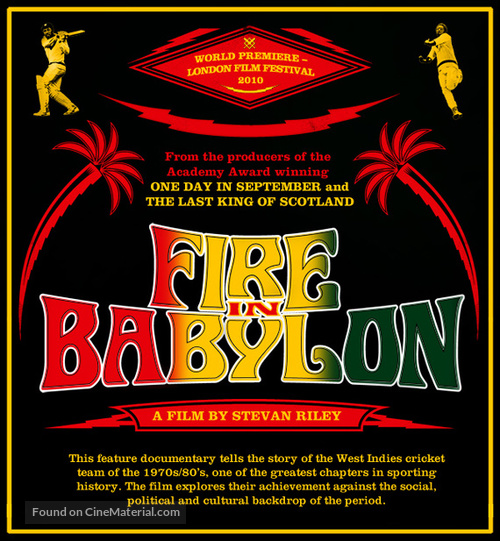 Fire in Babylon - British Movie Poster