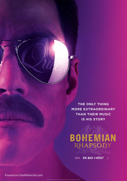 Bohemian Rhapsody - Swedish Movie Poster