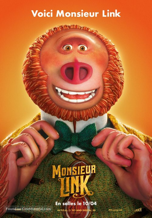 Missing Link - Belgian Movie Poster