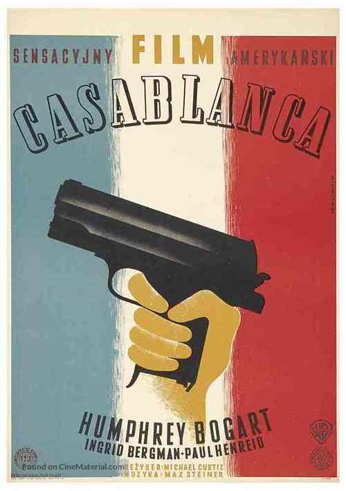 Casablanca - Polish Movie Poster