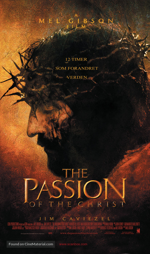 The Passion of the Christ - Norwegian Movie Poster