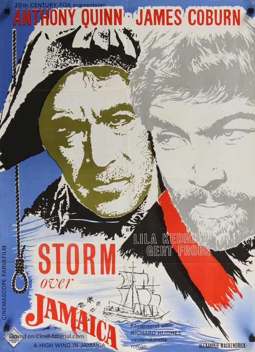 A High Wind in Jamaica - Danish Movie Poster