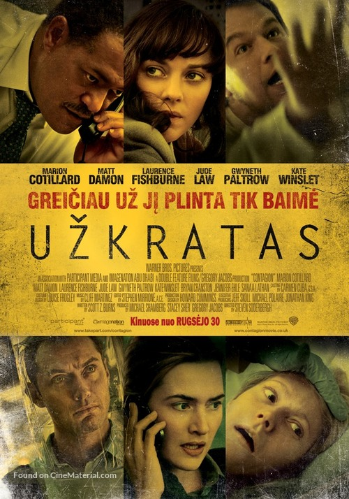 Contagion - Lithuanian Movie Poster