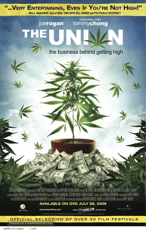 The Union: The Business Behind Getting High - Canadian Movie Poster