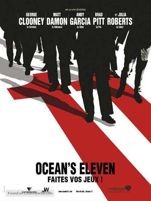 Ocean's Eleven - French Teaser poster
