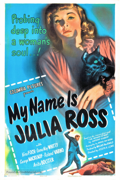My Name Is Julia Ross - Movie Poster