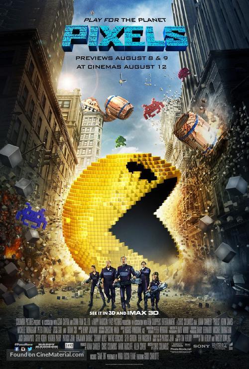 Pixels - British Movie Poster