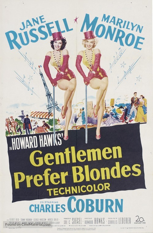 Gentlemen Prefer Blondes - Movie Poster
