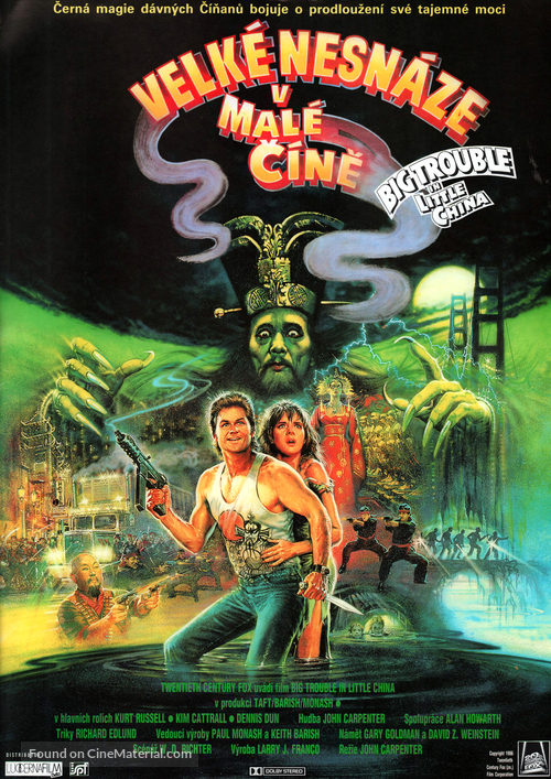 Big Trouble In Little China - Czech Movie Poster