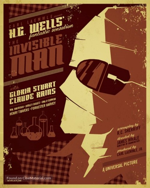 The Invisible Man - Homage movie poster