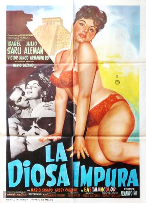La diosa impura - Mexican Movie Poster