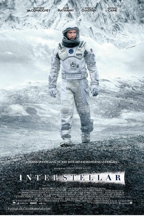 Interstellar - Danish Movie Poster