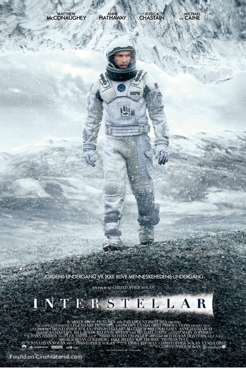 Interstellar - Danish Movie Poster