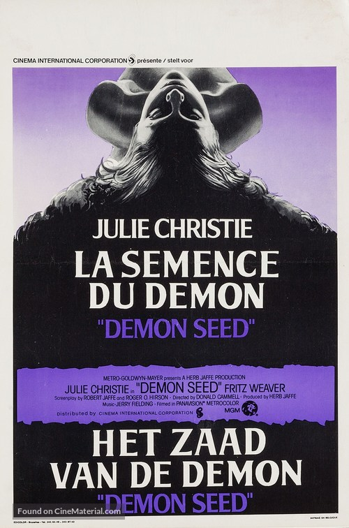 Demon Seed - Belgian Movie Poster