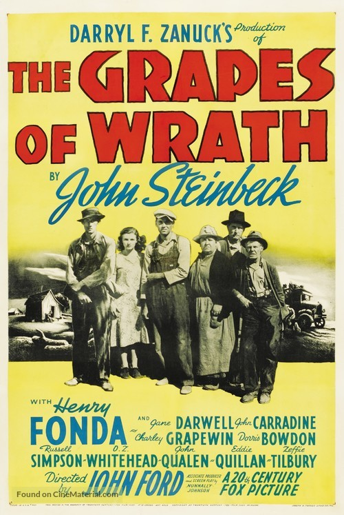 The Grapes of Wrath - Theatrical movie poster