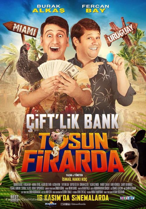 Çift'lik Bank: Tosun Firarda - Turkish Movie Poster