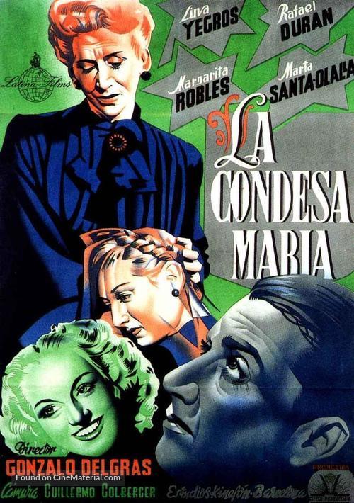 La condesa María - Spanish Movie Poster