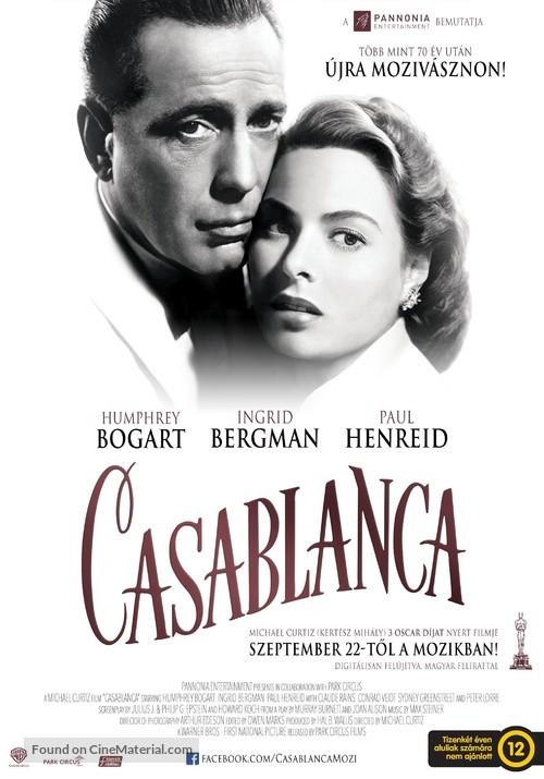 Casablanca - Hungarian Movie Poster
