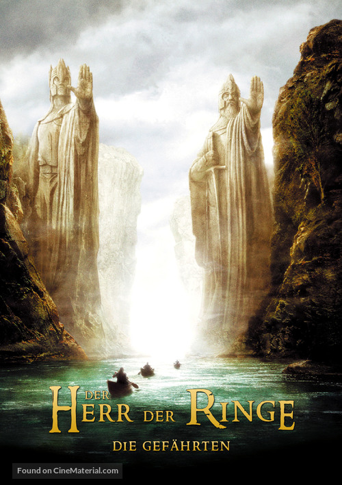 The Lord of the Rings: The Fellowship of the Ring - German Movie Poster