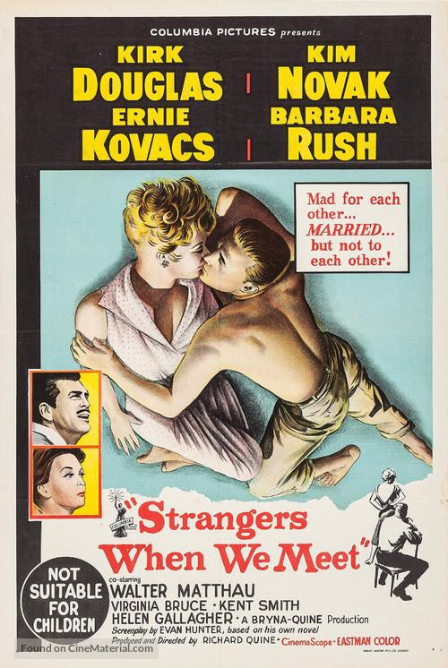 Strangers When We Meet - Australian Movie Poster