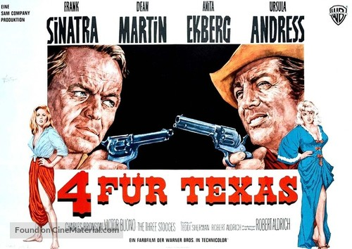 4 for Texas - German Movie Poster