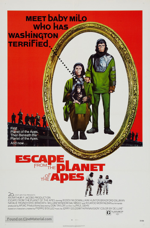 Escape from the Planet of the Apes - Theatrical poster