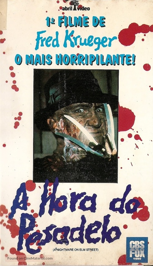 A Nightmare On Elm Street - Brazilian VHS cover