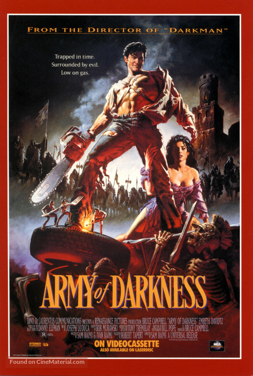 Army Of Darkness - Video release movie poster