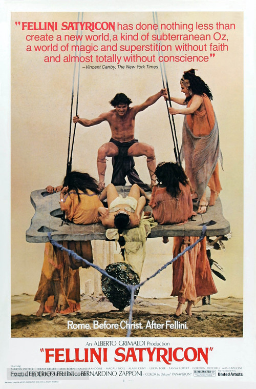 Fellini - Satyricon - Movie Poster