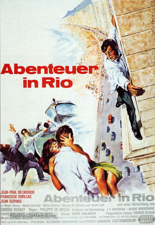 L'homme de Rio - German Movie Poster