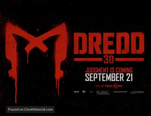 Dredd - Movie Poster