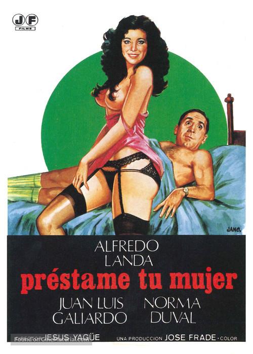Préstame tu mujer - Spanish Movie Poster