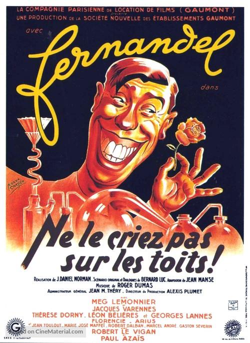 Ne le criez pas sur les toits - French Movie Poster