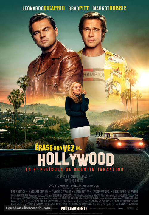Once Upon a Time in Hollywood - Spanish Movie Poster