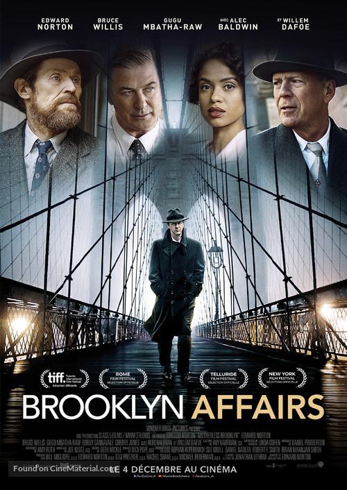 Motherless Brooklyn - Swiss Movie Poster