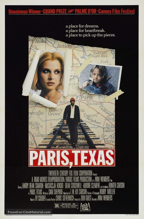 Paris, Texas - Movie Poster