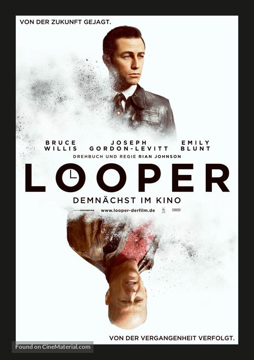 Looper - German Movie Poster