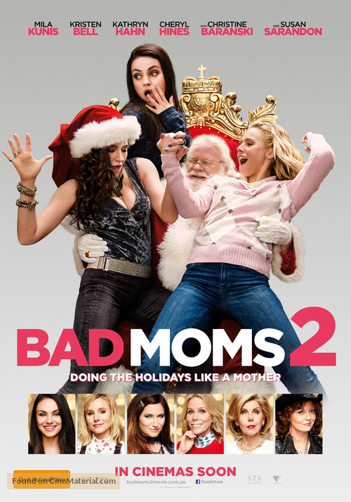 Bad Moms Christmas Poster.A Bad Moms Christmas 2017 Australian Movie Poster