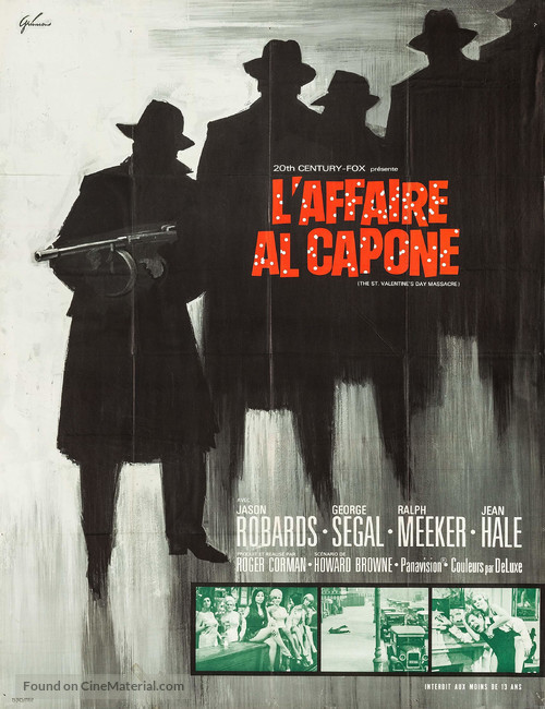 The St. Valentine's Day Massacre - French Movie Poster